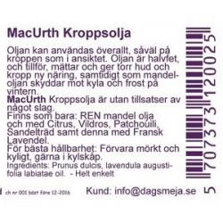 Macurth mandelolja lavendel...