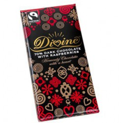 Divine 70% dark chocolate...