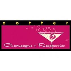 Zotter Champagne + Raspberries