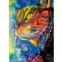 "Saska Björck kort ""Rainbowcat"""