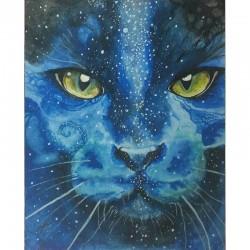 "Saska Björck Kort ""Blue Cat"""