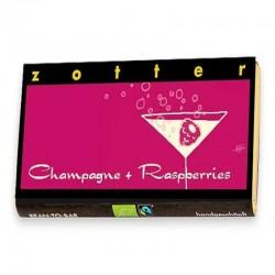 Zotter Champagne och hallon