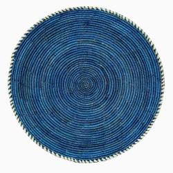 Afro Art Hearts brödfat blå