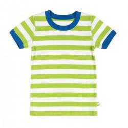 Katvig - T-shirt Grönvitrandig