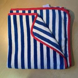 Handduk barn blåvit 75x150 cm