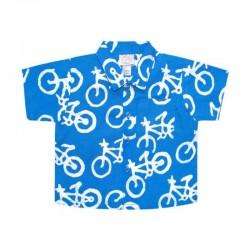 Global Mamas Skjorta Blå Cykel